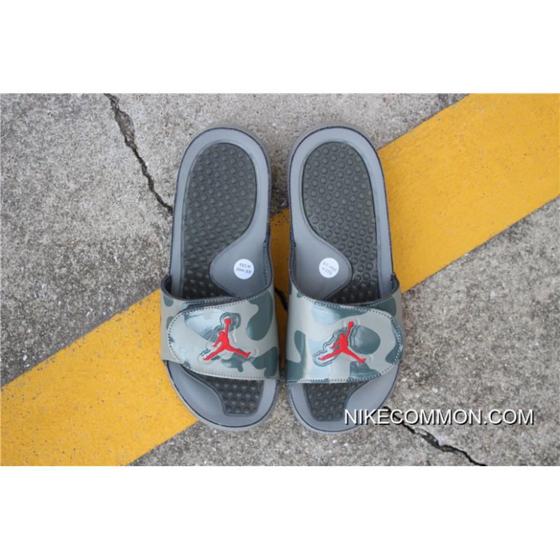 4e2c11e6eded5b ... Women Men New Air Jordan Hydro 5 Retro Slide Dark Stucco Red 555501- ...