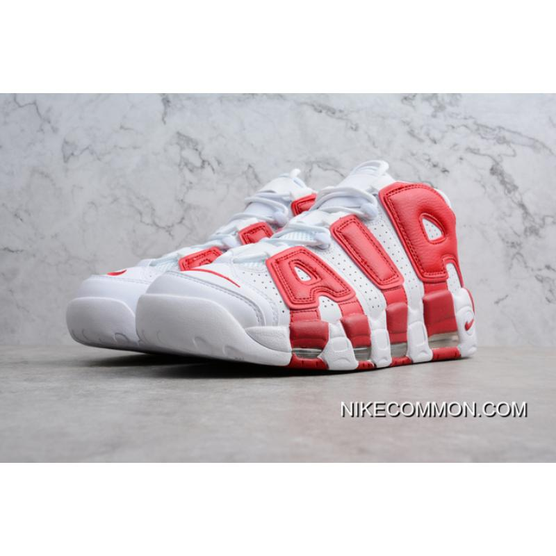 meet 3427d f0182 ... Tax Free Men s And Women s Nike Air More Uptempo White Gym Red 414962- 100 ...