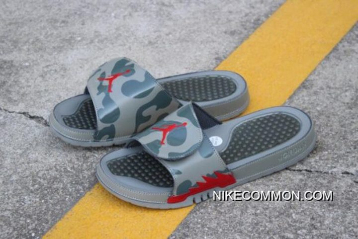 f206053af19145 Women Men New Air Jordan Hydro 5 Retro Slide Dark Stucco Red 555501 ...