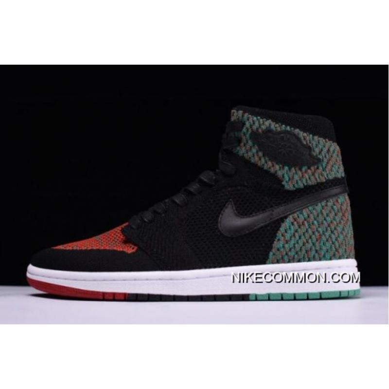 "97a36a6bca763 Tax Free Air Jordan 1 Retro High Flyknit ""BHM"" Black Lucid Green  ..."