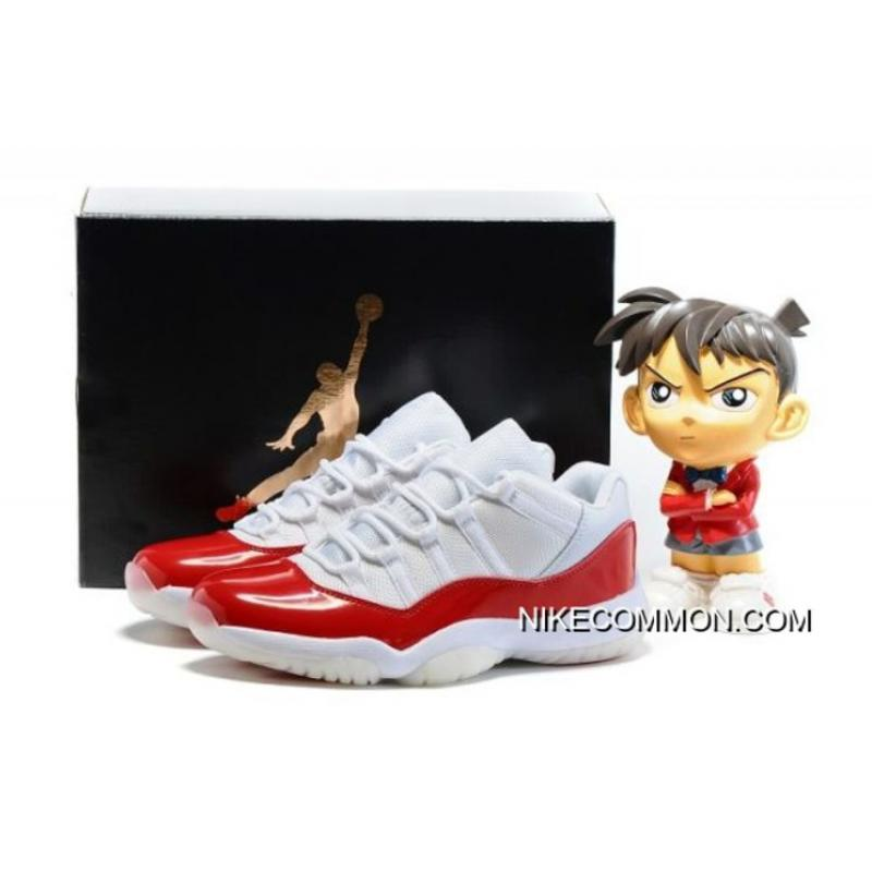 9e338242836 New Air Jordan 11 Low White/Varsity Red-Black Men's And Women's Size 528895  ...