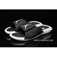 c3133c733606 Best New Air Jordan Hydro 6 Retro Sandals Black White Men s And Women s Size  881473