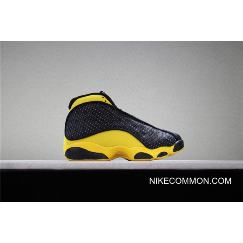 "ff63472959f ... Super Deals Kid s Air Jordan 13 ""Melo"" PE Black Yellow Basketball Shoes  ..."