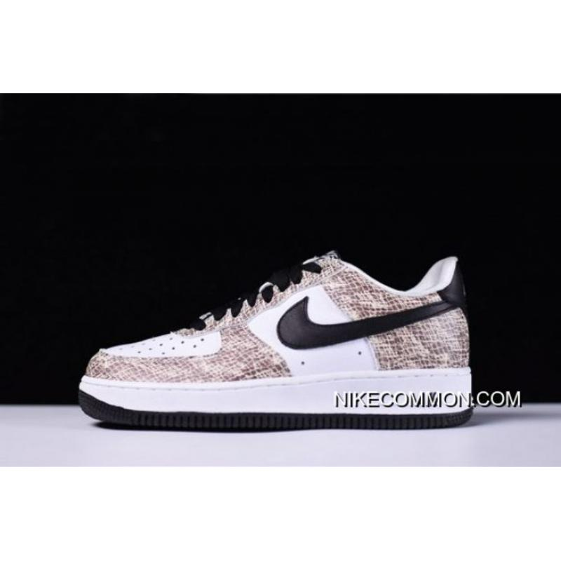 """new styles d7dc1 26300 Men's Nike Air Force 1 Low """"Cocoa Snake"""" True White/Black-Cocoa ..."""
