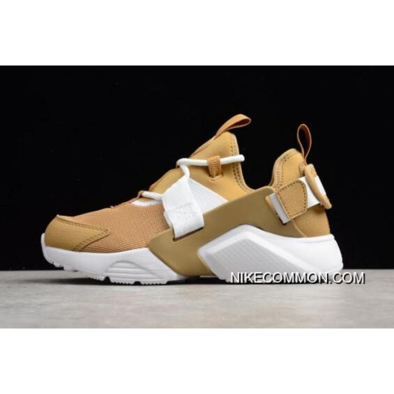 7da20bffddef Women WMNS Nike Air Huarache City Low Elemental Gold White AH6804-700 Tax  Free ...