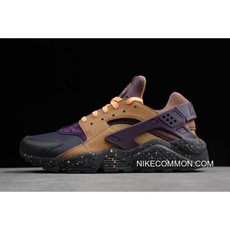 wholesale dealer ca85e 93a24 Women Men Nike Air Huarache Run Premium Anthracite Pro Purple Elemental  Gold 704830 ...
