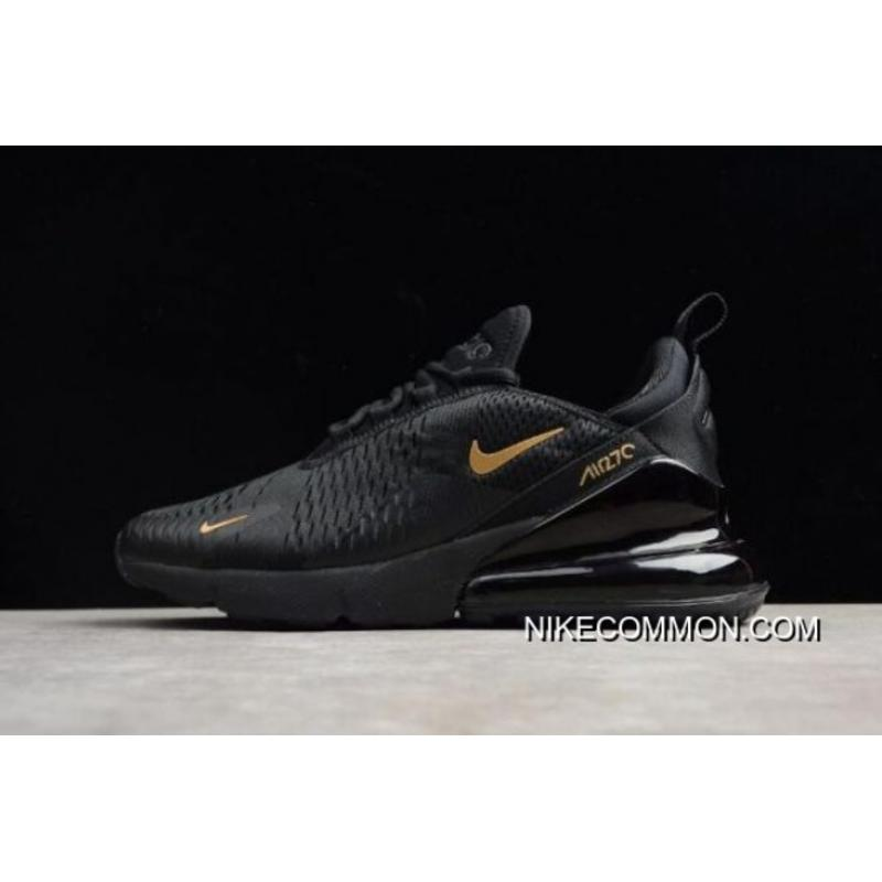 hot sale online b9200 02d1d Nike Air Max 270 Black Gold AH8050-007 Mens Size Shoes Lates