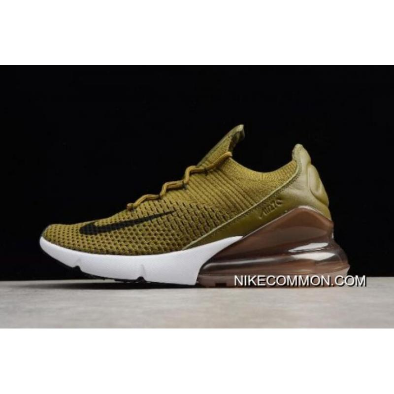 "c089ed19ec51 For Sale Nike Air Max 270 Flyknit ""Olive Flak"" Army Green Black- ..."