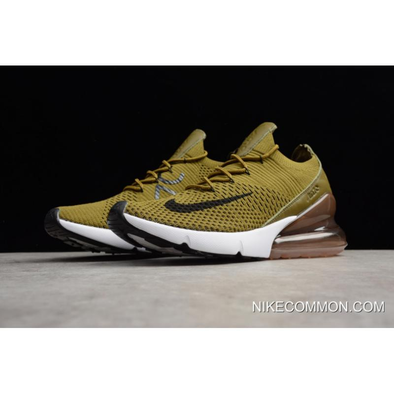 """181e977348 ... For Sale Nike Air Max 270 Flyknit """"Olive Flak"""" Army Green/Black- ..."""