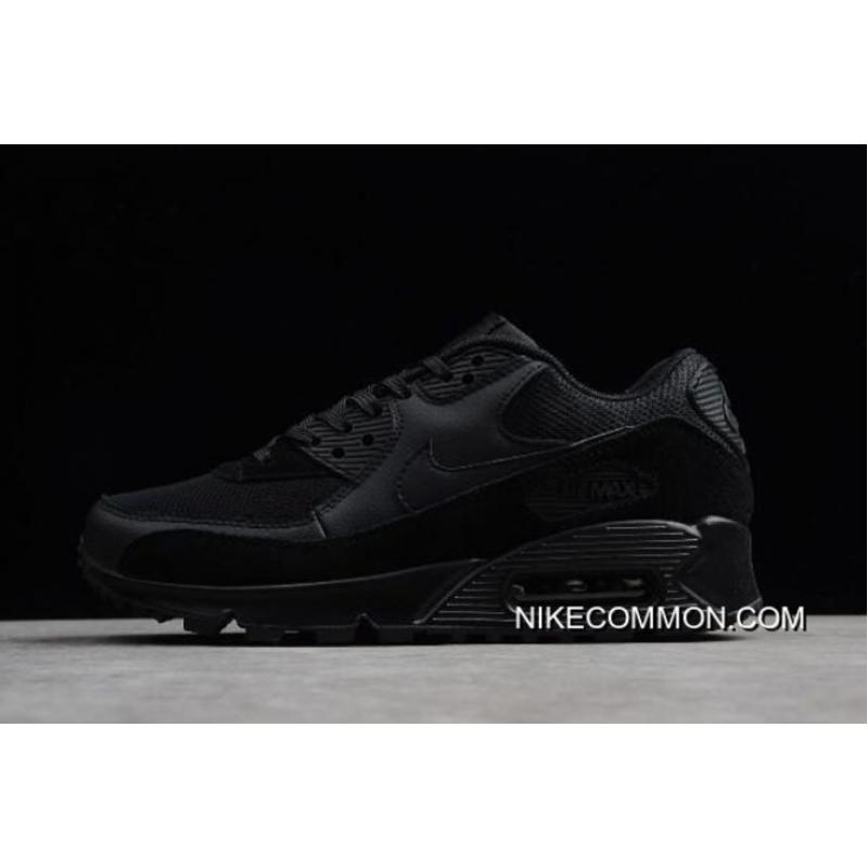 "0c9eaf2596c Women Men Discount Nike Air Max 90 ""Triple Black"" 325213-043 ..."