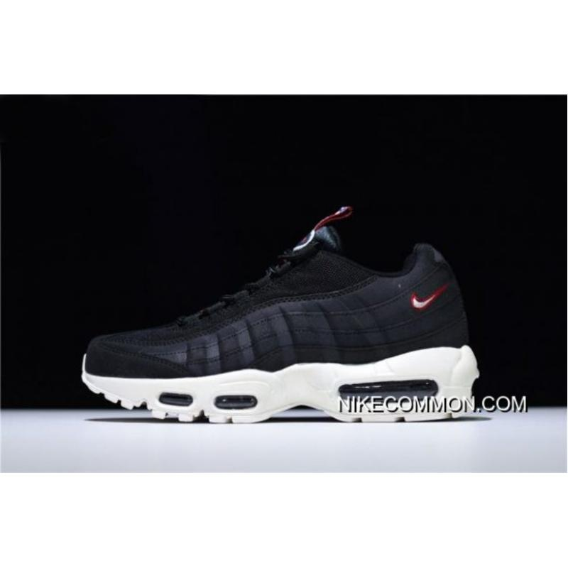 "2e33f3a901 Nike Air Max 95 ""Pull Tab"" Black/Sail-Gym Red AJ1844-002 Super Deals ..."
