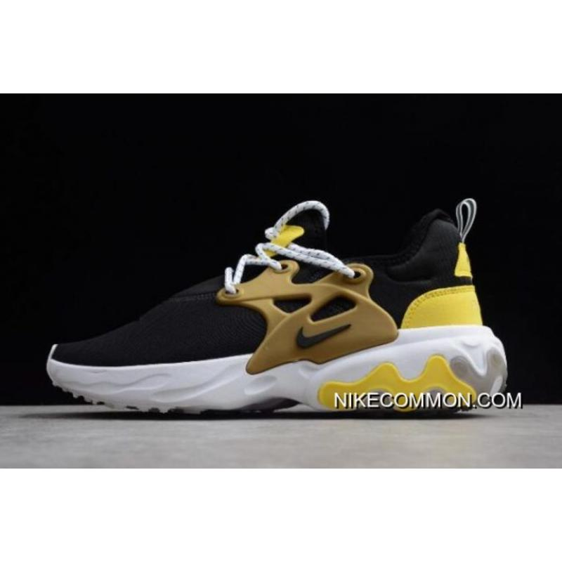 huge selection of 5f3ec 0d56f Women/Men Where To Buy Nike Presto React Black/Yellow/White/Metallic Gold  Running Shoes AV2605-001