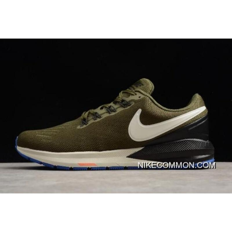 1f114fdcfe55 Tax Free Nike Air Zoom Structure 22 Olive Black-White AA1636-300 ...