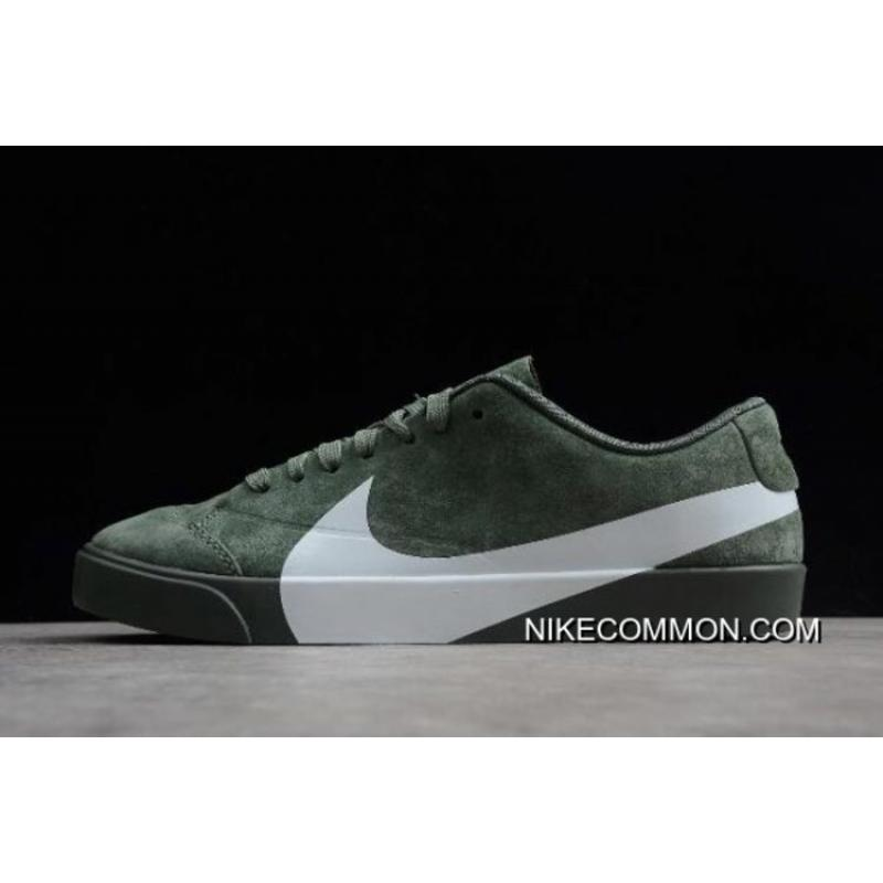 "Women Men Tax Free Nike Blazer City Low XS ""Clay Green"" AV2253-300 ... a8ca77725"