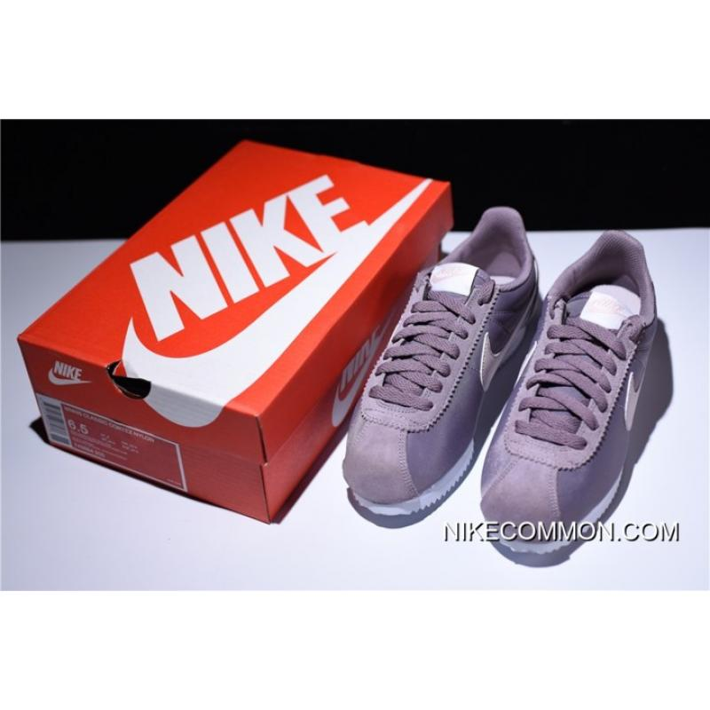 b98fdb1c64b3 ... Women Best WMNS Nike Classic Cortez Nylon Taupe Grey Silt Red-White  749864-