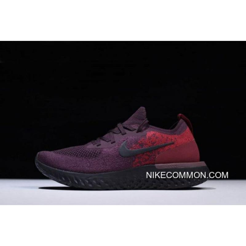e0520e49cc6 Big Deals Men s Nike Epic React Flyknit Wine Red Dark Red-Black AT0054- ...