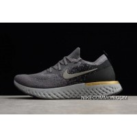 check out 45061 89c44 Buy Now Nike Epic React Flyknit Grey Black-Gold Running Shoes AQ0067-009