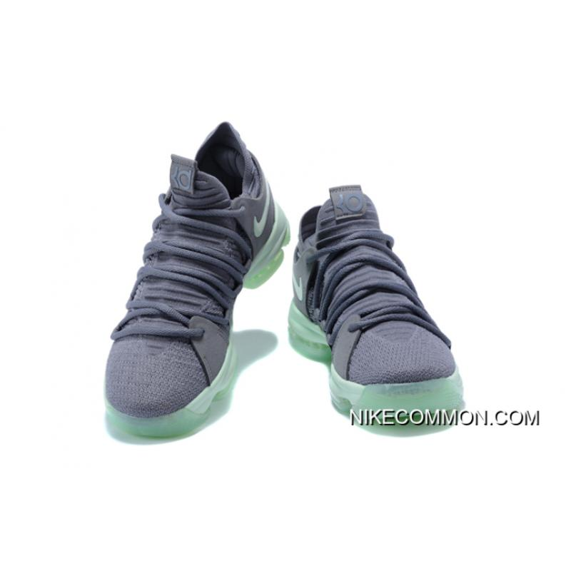 "d3f30b5fcbe6 ... Men s Nike KD 10 ""Igloo"" Cool Grey Igloo-White Basketball Shoes 897816"