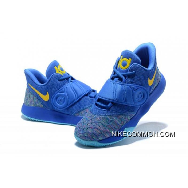 Latest Nike KD Trey 5 VI Signal Blue Yellow Men s Basketball Shoes ... 51f054606