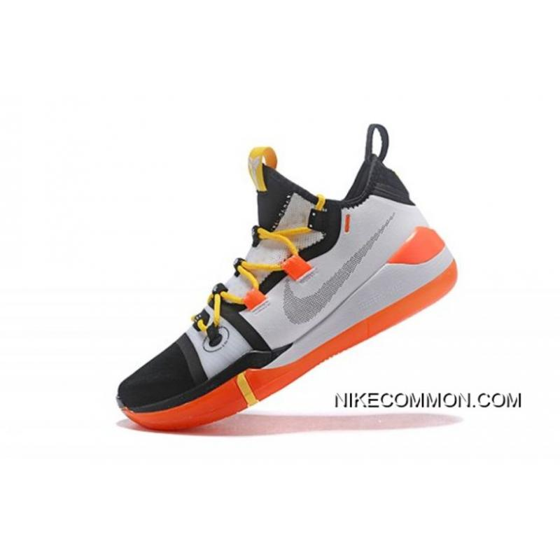sale retailer f0296 c2c2f Newest Kobe Bryant's Nike Kobe AD Black/White-Yellow-Orange Best