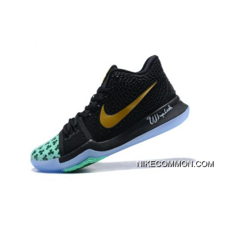new arrival 472e3 9ec44 Kyrie Irving's Shamrock Nike Kyrie 3 PE Basketball Shoes New Release
