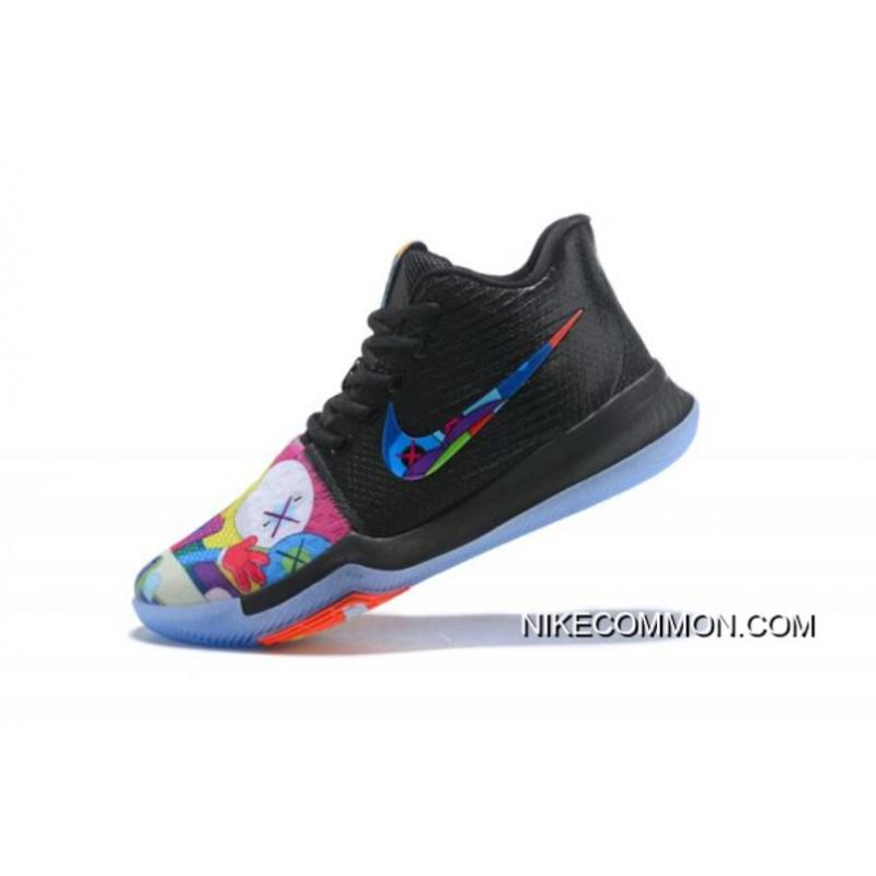13dfa476aed KAWS X Nike Kyrie 3 Black Multi-Color Men s Basketball Shoes New Year Deals  ...
