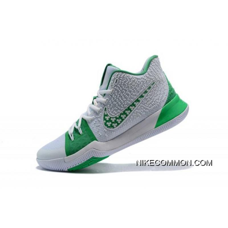 382f9c8a3920 New Style Latest Nike Kyrie 3 Green White Men s Basketball Shoes ...