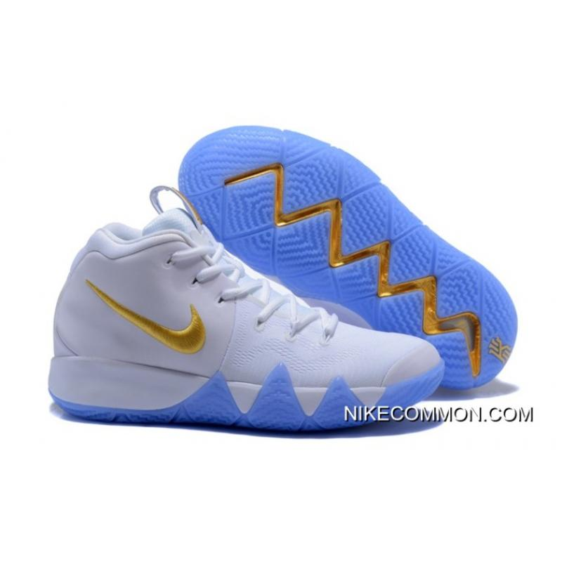new style f9391 76972 Tax Free Nike Kyrie 4 White Gold