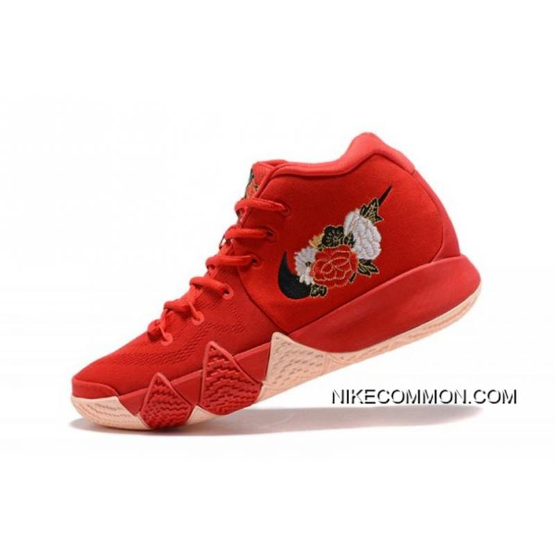 "c578945d06fc Men s Nike Kyrie 4 ""CNY"" University Red Black-Team Red Basketball Shoes ..."
