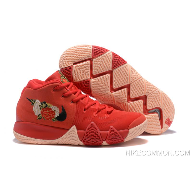 "df01477e1f3 ... Men s Nike Kyrie 4 ""CNY"" University Red Black-Team Red Basketball Shoes  ..."
