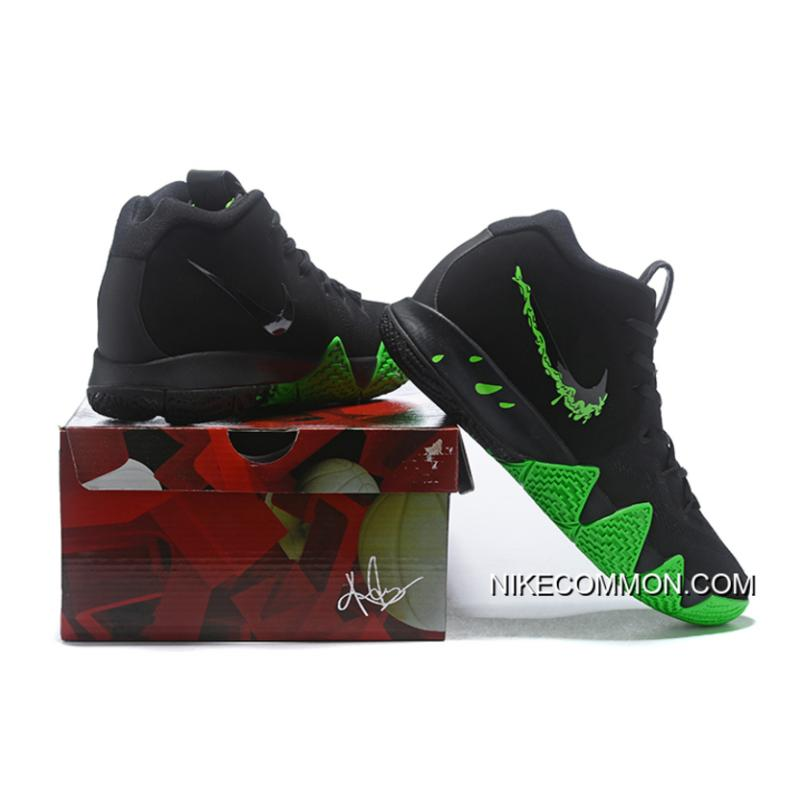"""38d750cac81a ... New Style Nike Kyrie 4 """"Halloween"""" Black Rage Green 943806-012 ..."""