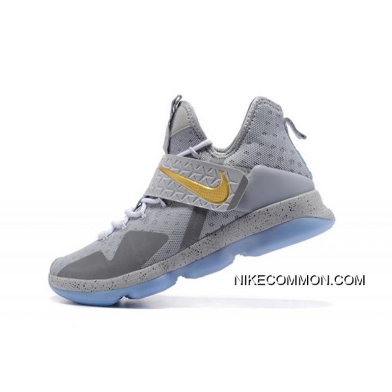"2d74a359be0c5 Discount Nike LeBron 14 ""Opening Night"" Wolf Grey Gold-Green Free Shipping  ..."