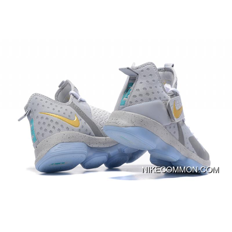 "4531338063af ... Discount Nike LeBron 14 ""Opening Night"" Wolf Grey Gold-Green Free  Shipping ..."