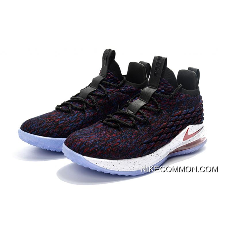"""lowest price 8f39a c8bab ... All-Star Nike LeBron 15 Low """"Supernova"""" Multicolor University Red-Black  ..."""