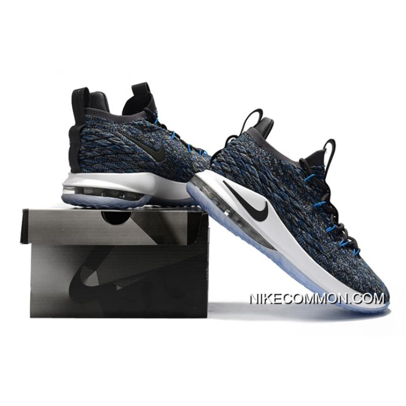 buy online 656b1 2e125 ... Nike LeBron 15 Low Signal Blue Thunder Grey-Black AO1756-400 Buy Now