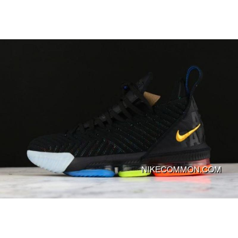 "f4f82b493f5 Nike LeBron 16 ""I Promise"" Black Multi-Color AO2595-004 Big Deals ..."