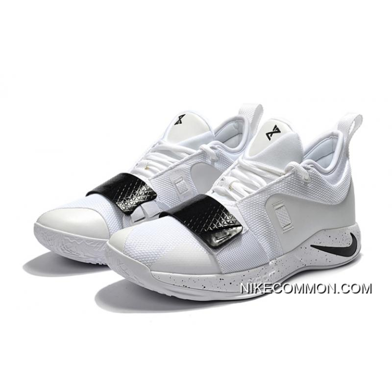 official photos dc9de 993ad Nike PG 2.5 White Black Paul George Basketball Shoes New Style