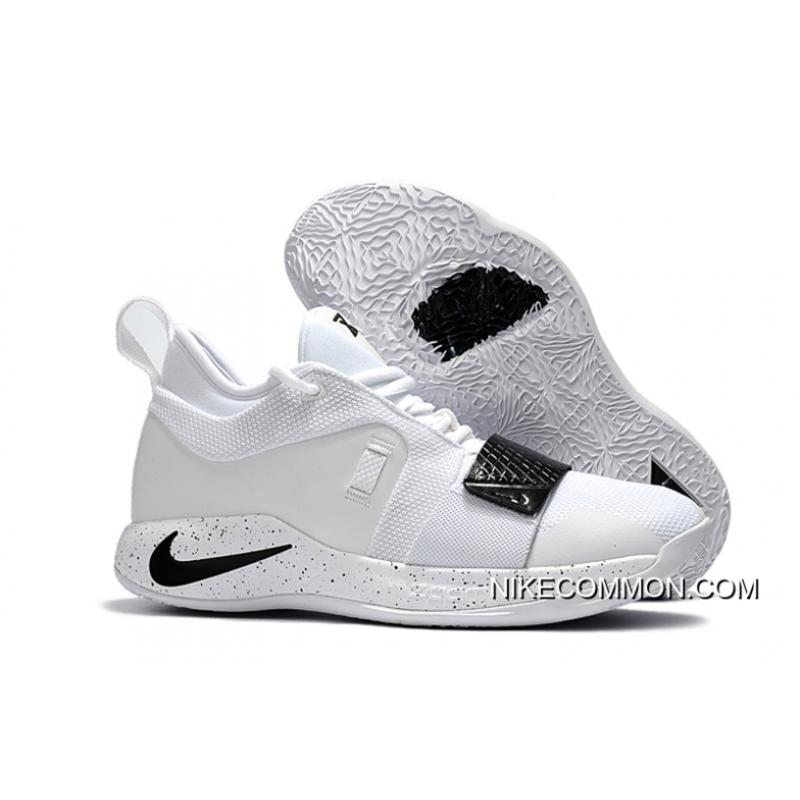 official photos fd19d 0eb48 Nike PG 2.5 White Black Paul George Basketball Shoes New Style