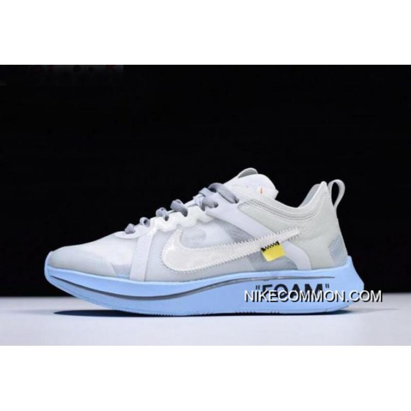 check out e9b0c 08143 Off-White X Nike Zoom Fly SP WhiteLight Blue Mens And Womens