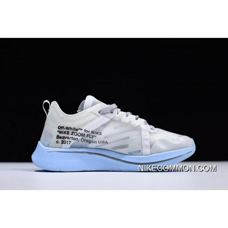 ... Off-White X Nike Zoom Fly SP White Light Blue Men s And Women s Size ... 12e68f7685