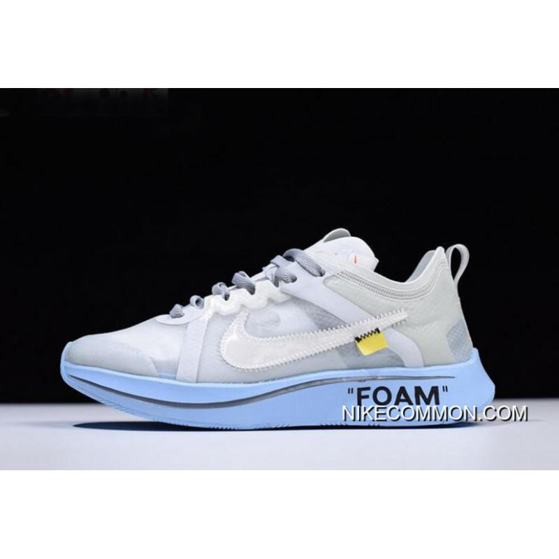 0cd8fc40767881 ... Off-White X Nike Zoom Fly SP White Light Blue Men s And Women s Size ...