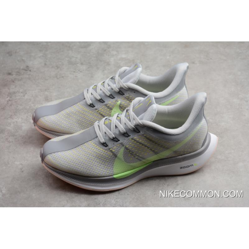 7331ac0ab53a ... Women Men Nike Air Zoom Pegasus 35 Turbo 2.0 Light Grey Green AJ4115-  ...