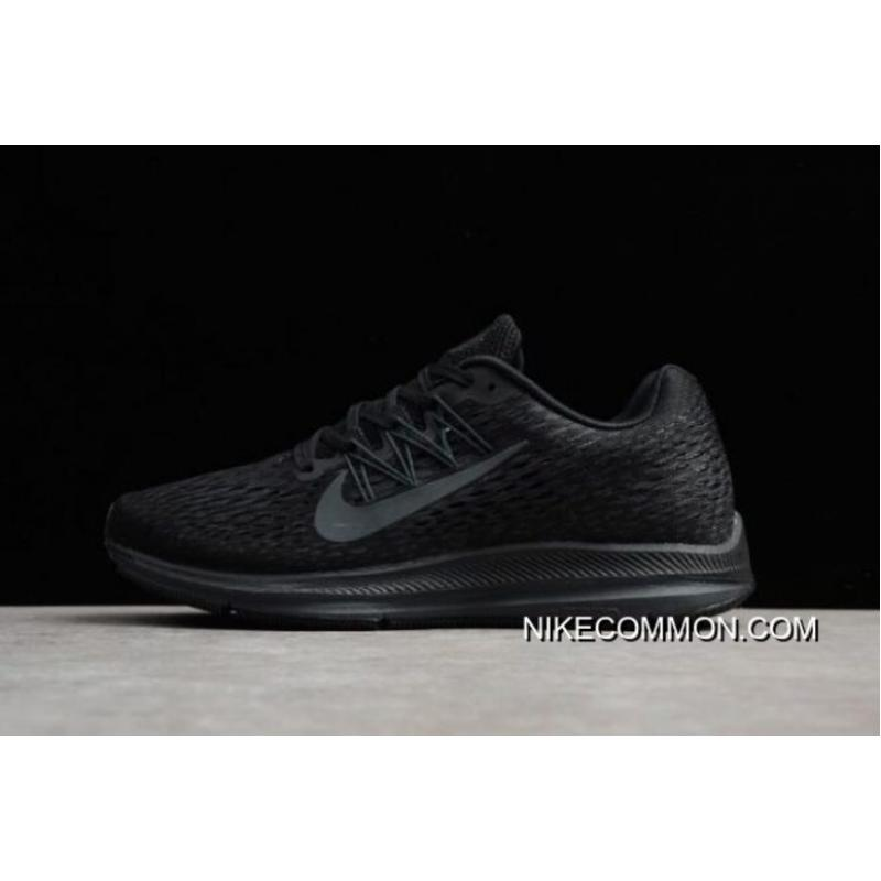 9a01532229684 Men s And Women s Nike Zoom Winflo 5 Black Anthracite Running Shoes  AA7406-002 Outlet ...