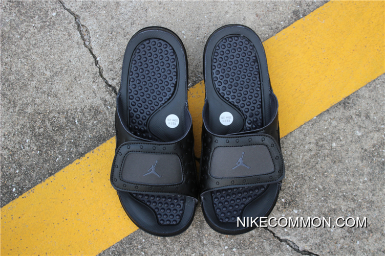 "best service 8b669 2b8d3 Women/Men New Air Jordan Hydro 13 Retro ""Black Cat"" Black/Anthracite  Sandals Big Deals"