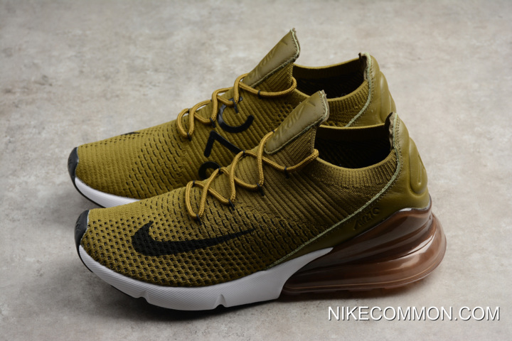 """f4777bc7aa For Sale Nike Air Max 270 Flyknit """"Olive Flak"""" Army Green/Black ..."""