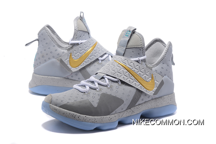 """new product 96761 57b84 Discount Nike LeBron 14 """"Opening Night"""" Wolf Grey/Gold-Green Free Shipping"""