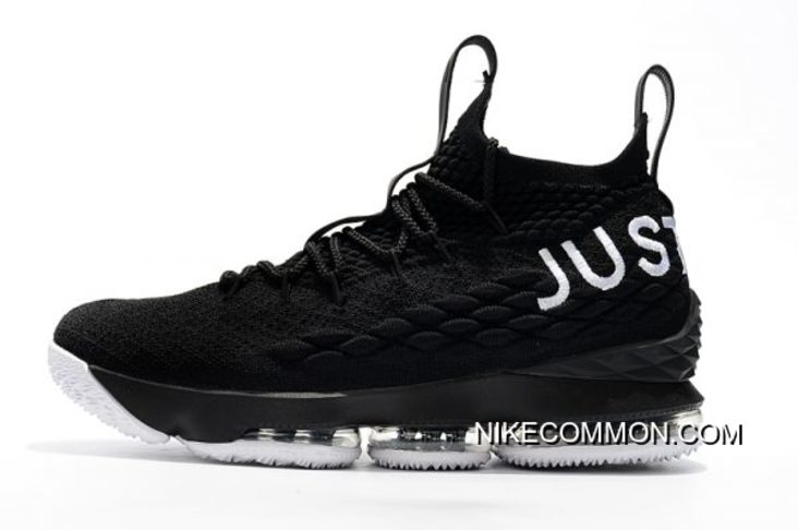 """newest collection aff83 bd8d5 New Style Nike LeBron 15 """"Just Do It"""" Black/White"""