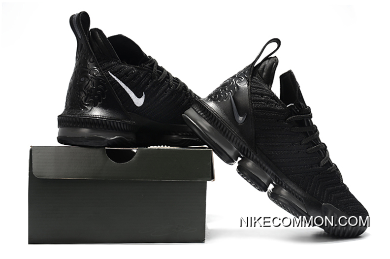 "b85c97d64e1c3 Nike LeBron 16 ""Triple Black"" Men s Basketball Shoes Free Shipping ..."